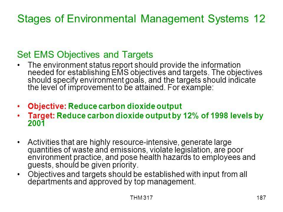 Stages of Environmental Management Systems 12