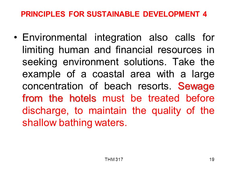 PRINCIPLES FOR SUSTAINABLE DEVELOPMENT 4