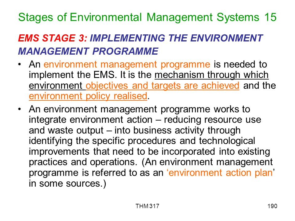 Stages of Environmental Management Systems 15