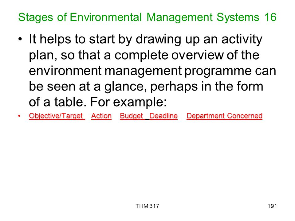 Stages of Environmental Management Systems 16