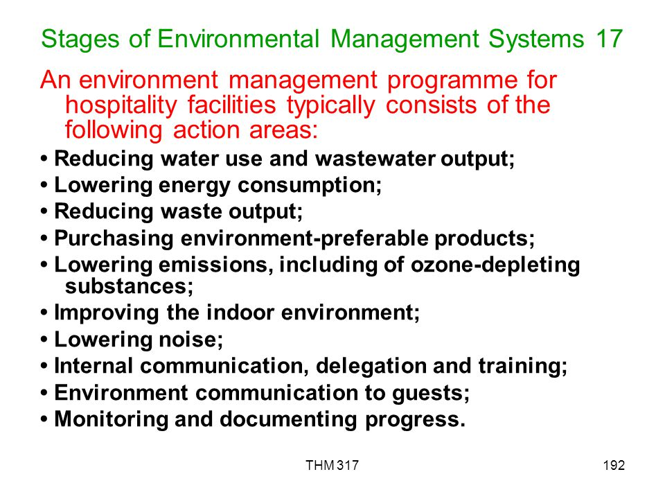 Stages of Environmental Management Systems 17