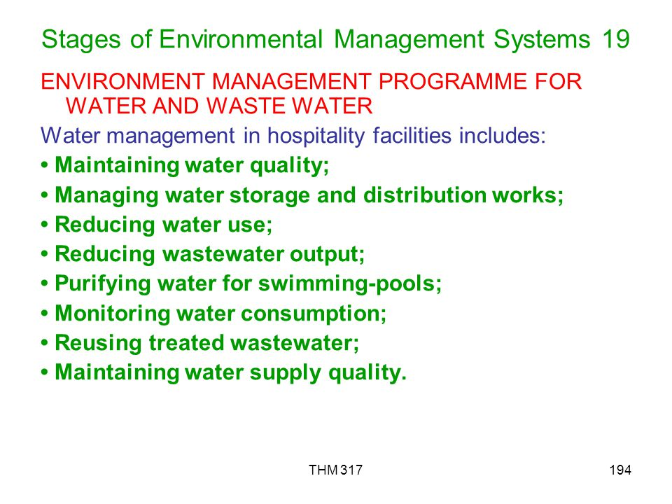 Stages of Environmental Management Systems 19