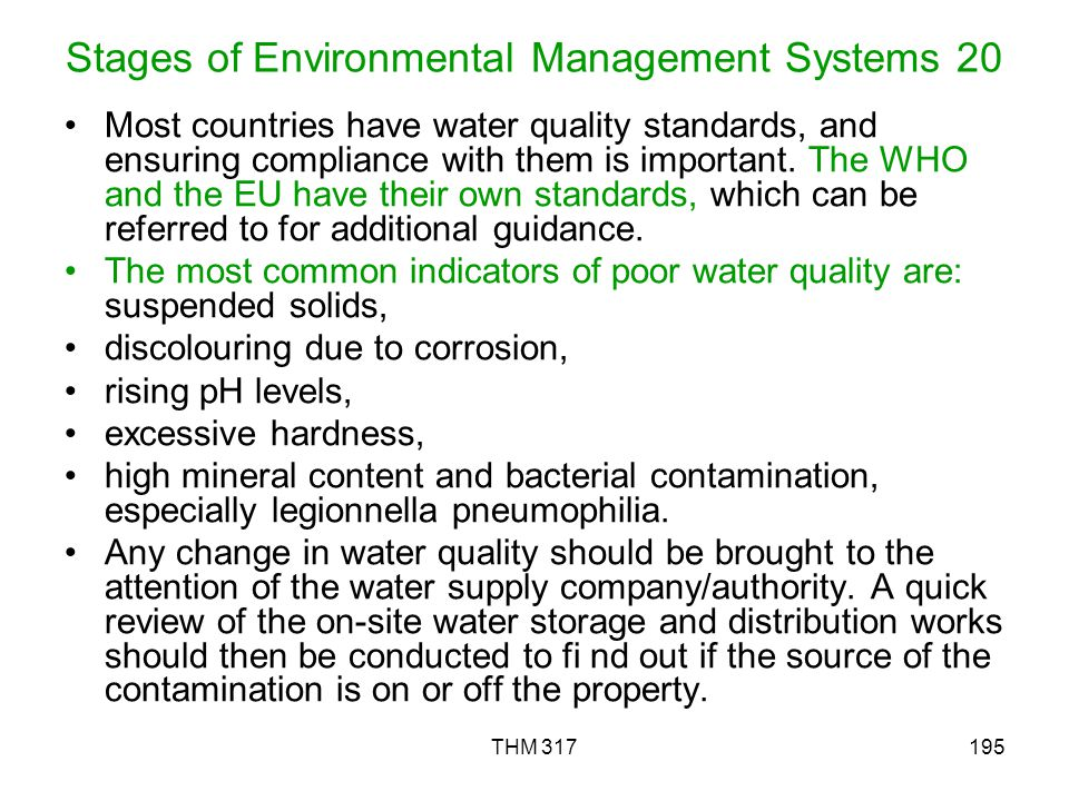 Stages of Environmental Management Systems 20
