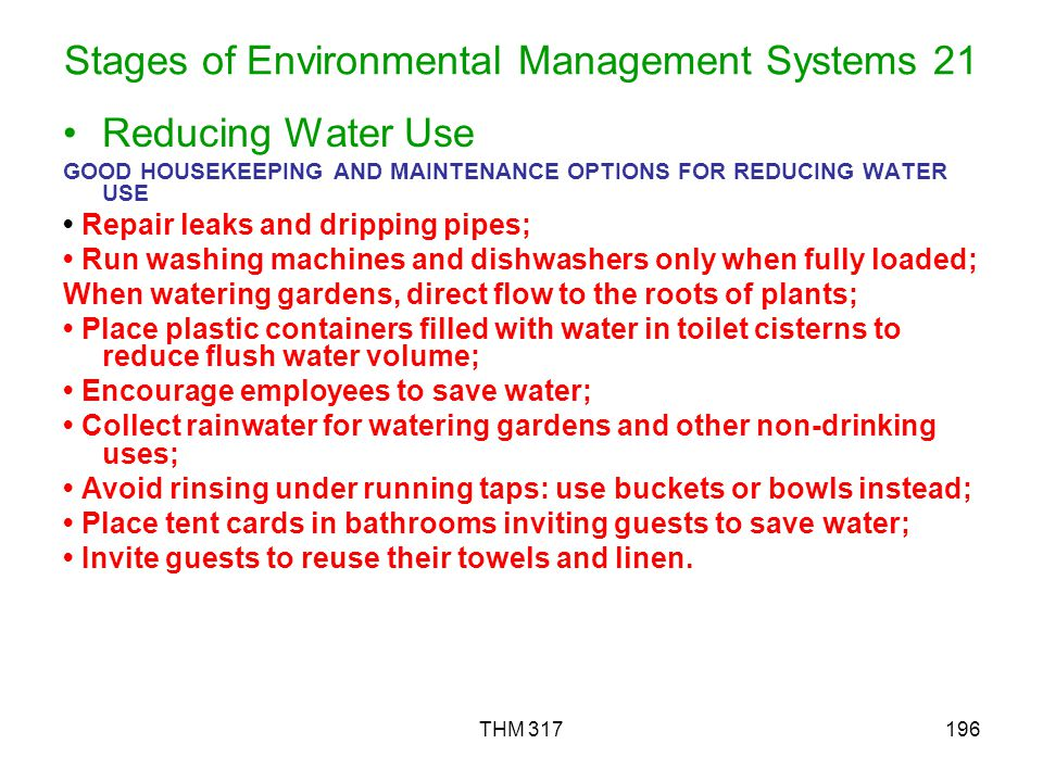 Stages of Environmental Management Systems 21