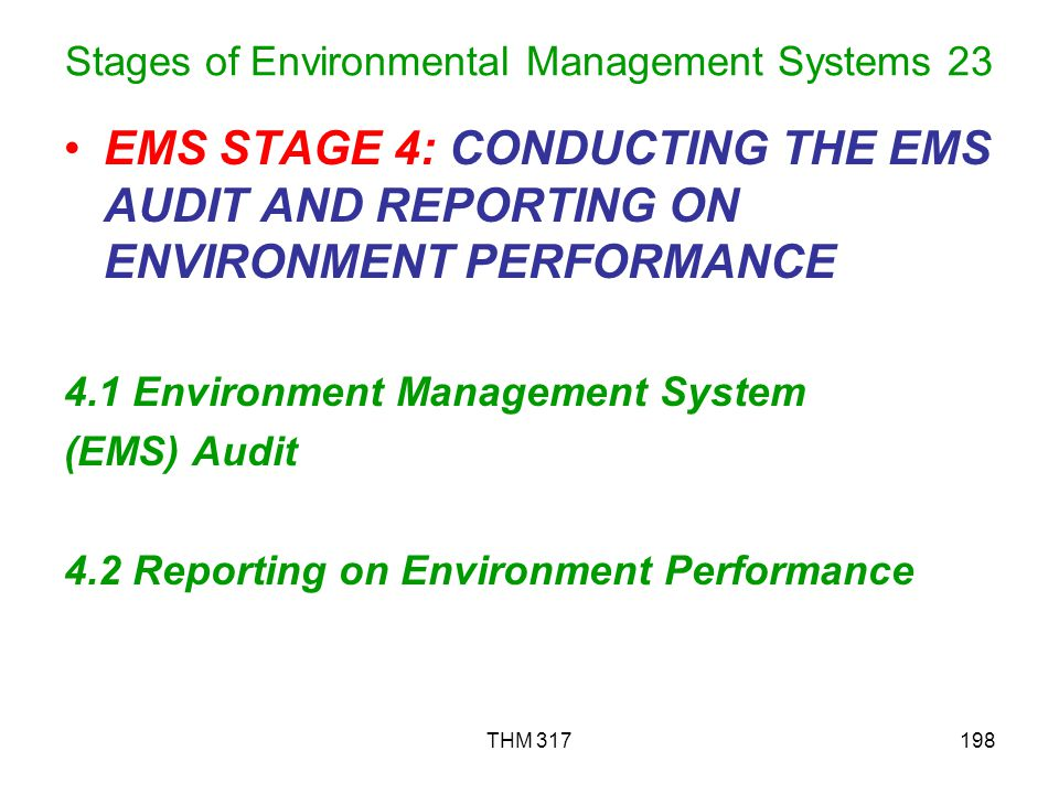 Stages of Environmental Management Systems 23