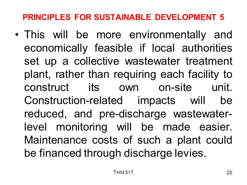 PRINCIPLES FOR SUSTAINABLE DEVELOPMENT 5
