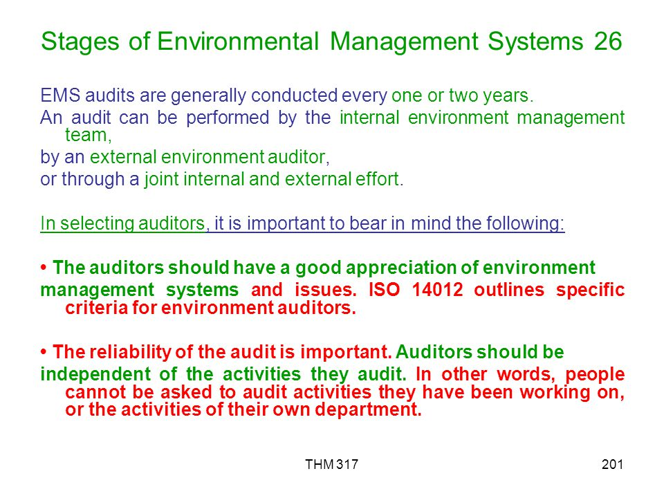 Stages of Environmental Management Systems 26
