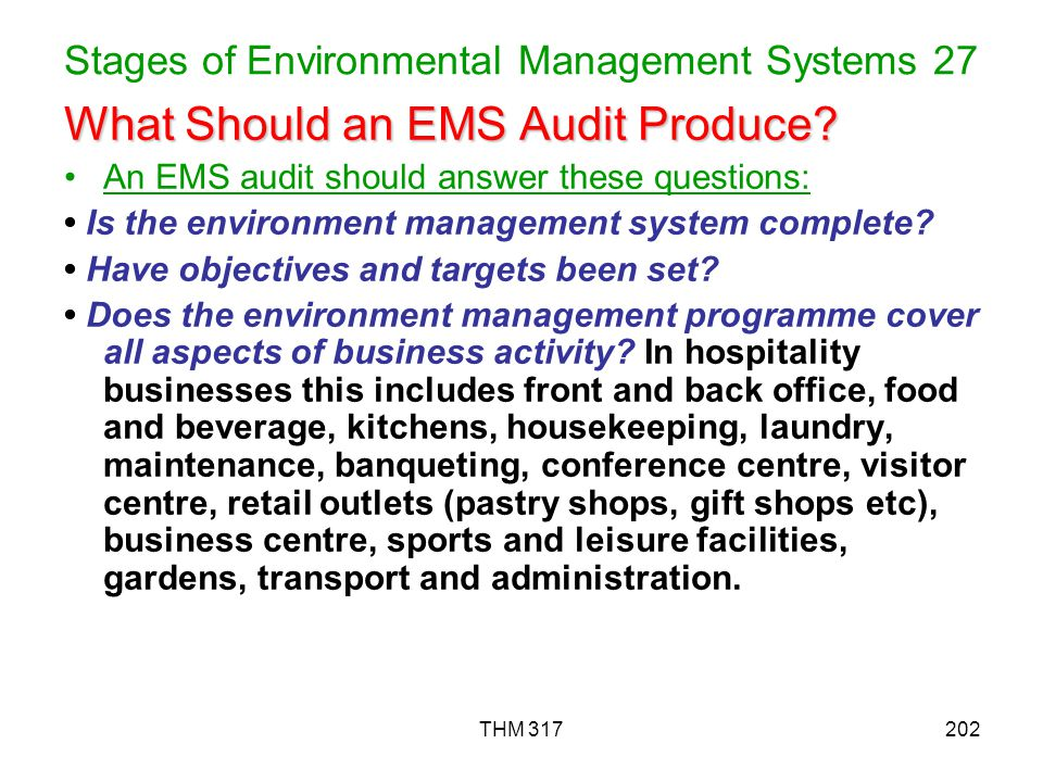 Stages of Environmental Management Systems 27