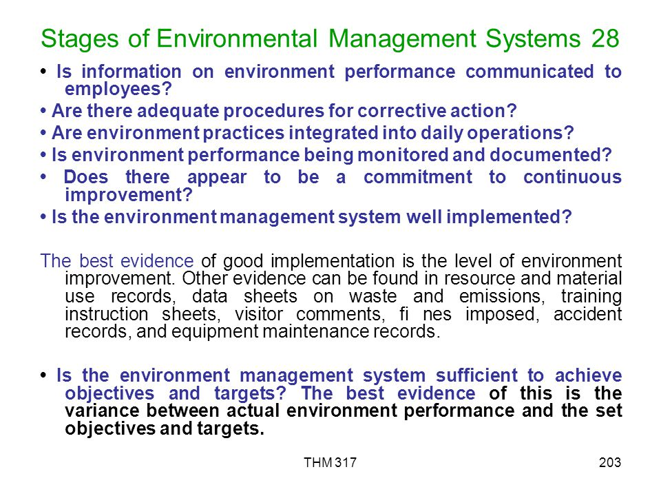 Stages of Environmental Management Systems 28