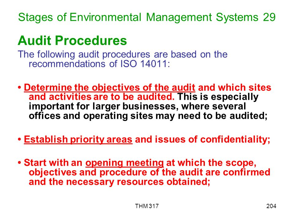 Stages of Environmental Management Systems 29