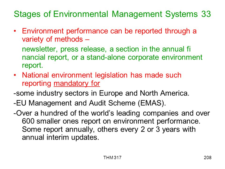 Stages of Environmental Management Systems 33
