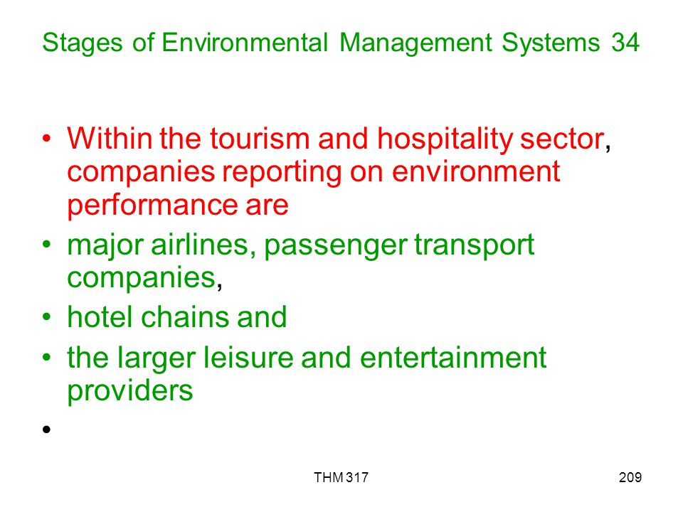 Stages of Environmental Management Systems 34