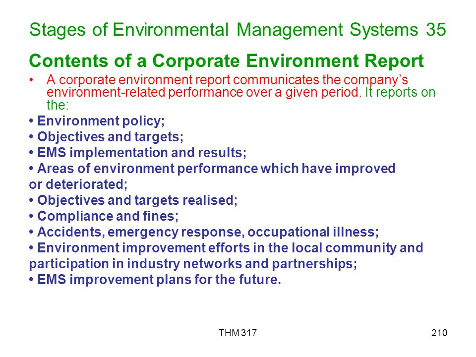 Stages of Environmental Management Systems 35