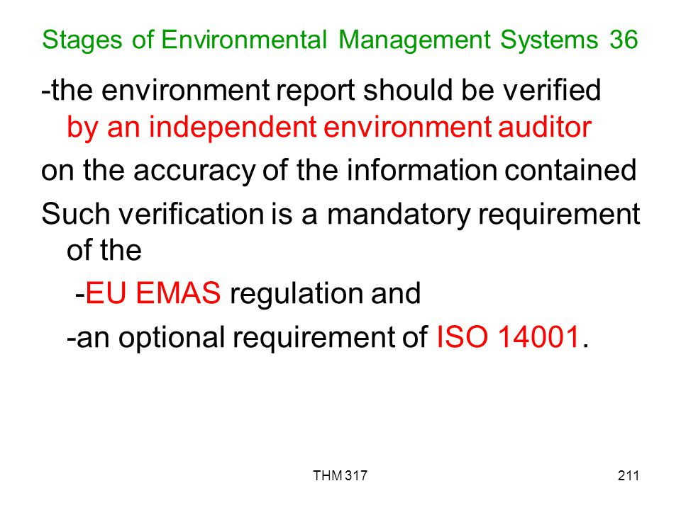 Stages of Environmental Management Systems 36
