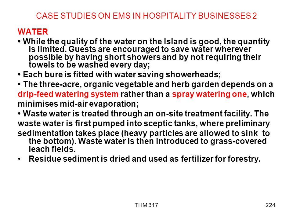 CASE STUDIES ON EMS IN HOSPITALITY BUSINESSES 2