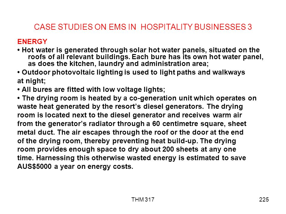 CASE STUDIES ON EMS IN HOSPITALITY BUSINESSES 3