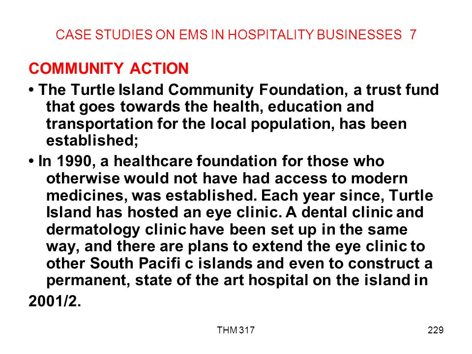 CASE STUDIES ON EMS IN HOSPITALITY BUSINESSES 7