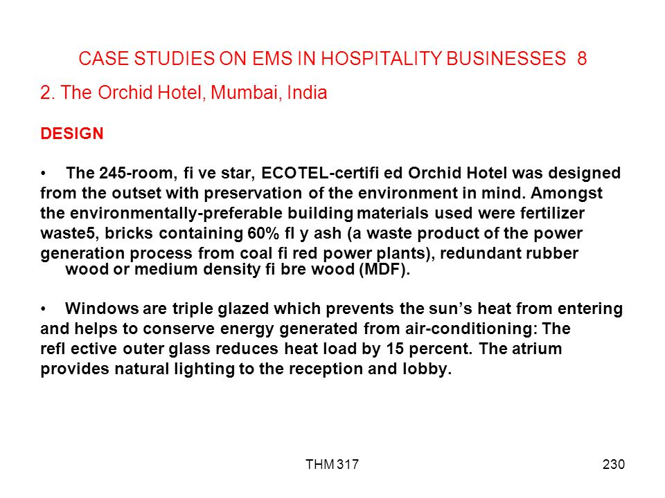 CASE STUDIES ON EMS IN HOSPITALITY BUSINESSES 8