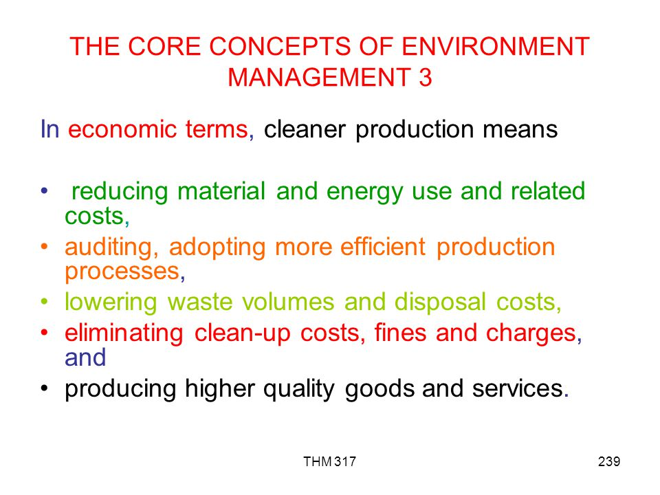 THE CORE CONCEPTS OF ENVIRONMENT MANAGEMENT 3