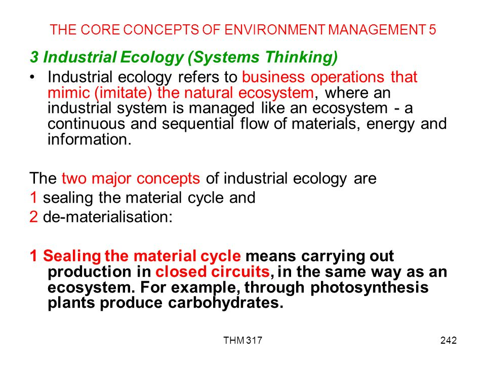 THE CORE CONCEPTS OF ENVIRONMENT MANAGEMENT 5