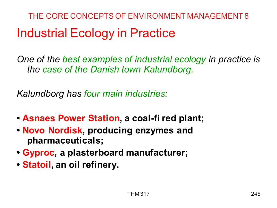THE CORE CONCEPTS OF ENVIRONMENT MANAGEMENT 8