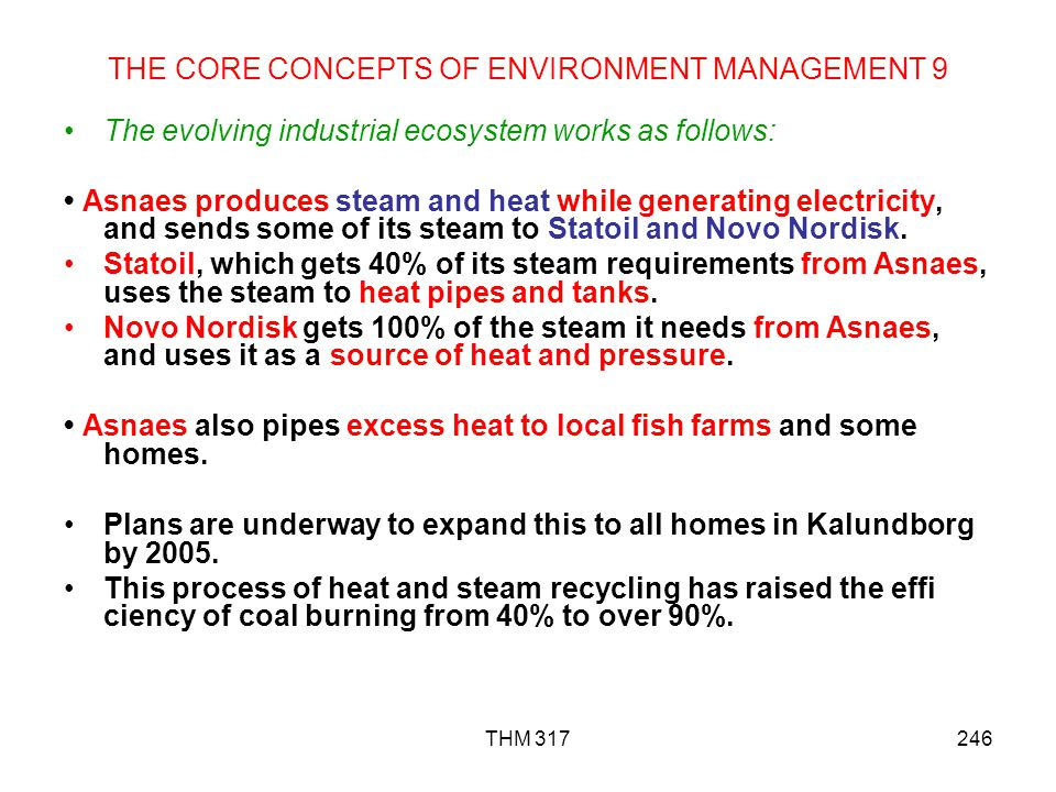 THE CORE CONCEPTS OF ENVIRONMENT MANAGEMENT 9
