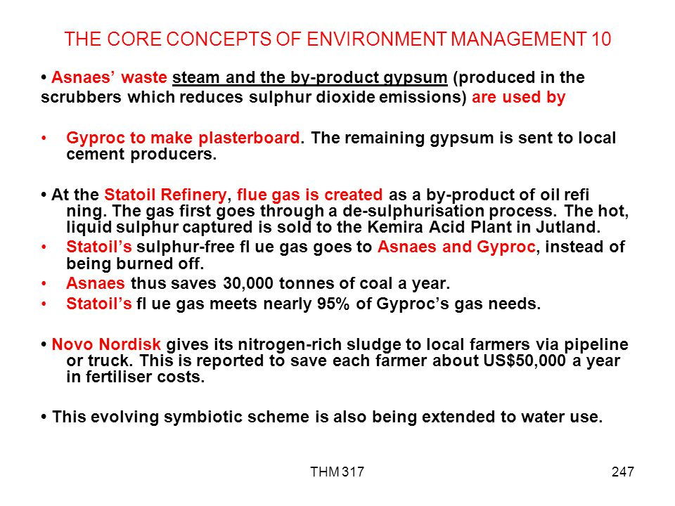THE CORE CONCEPTS OF ENVIRONMENT MANAGEMENT 10