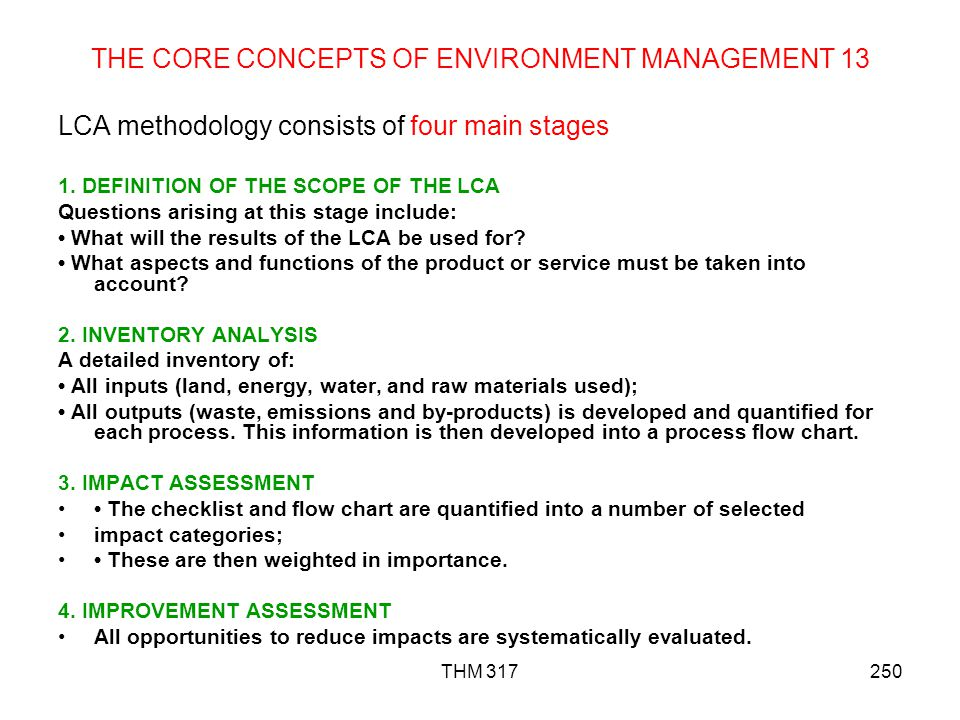 THE CORE CONCEPTS OF ENVIRONMENT MANAGEMENT 13