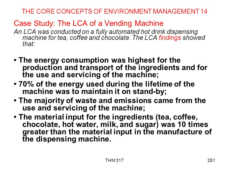 THE CORE CONCEPTS OF ENVIRONMENT MANAGEMENT 14