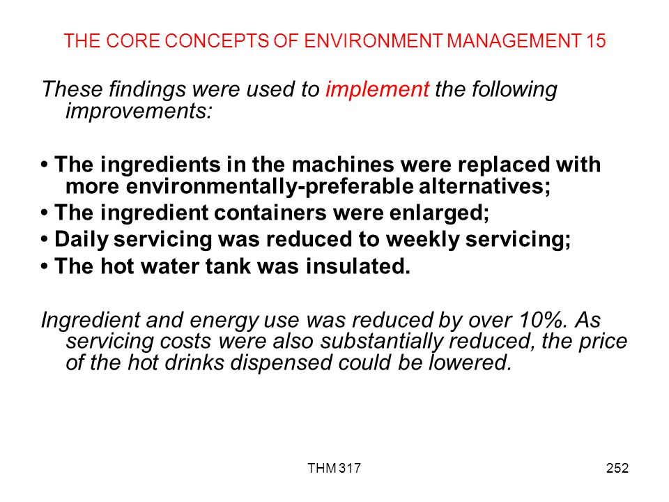 THE CORE CONCEPTS OF ENVIRONMENT MANAGEMENT 15