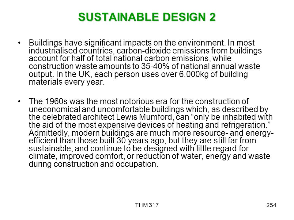 SUSTAINABLE DESIGN 2