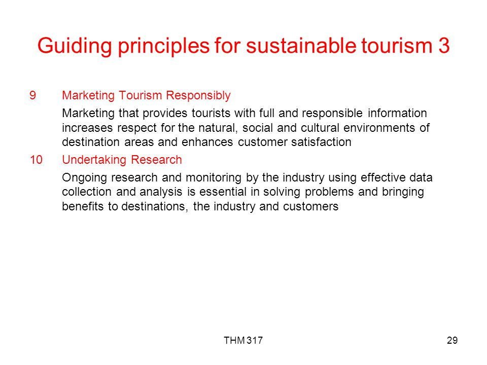 Guiding principles for sustainable tourism 3