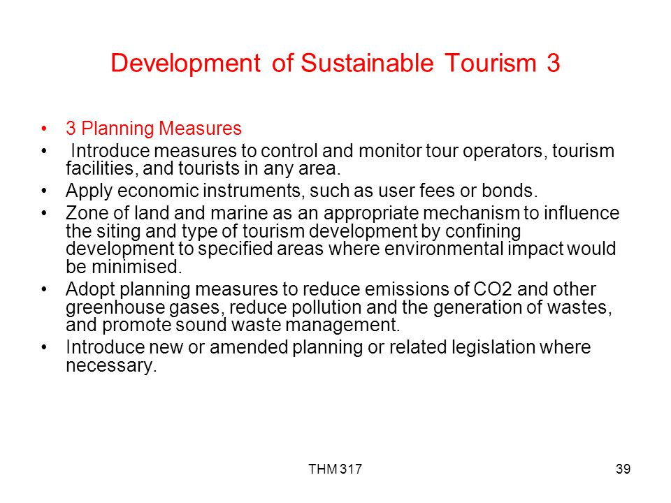 Development of Sustainable Tourism 3
