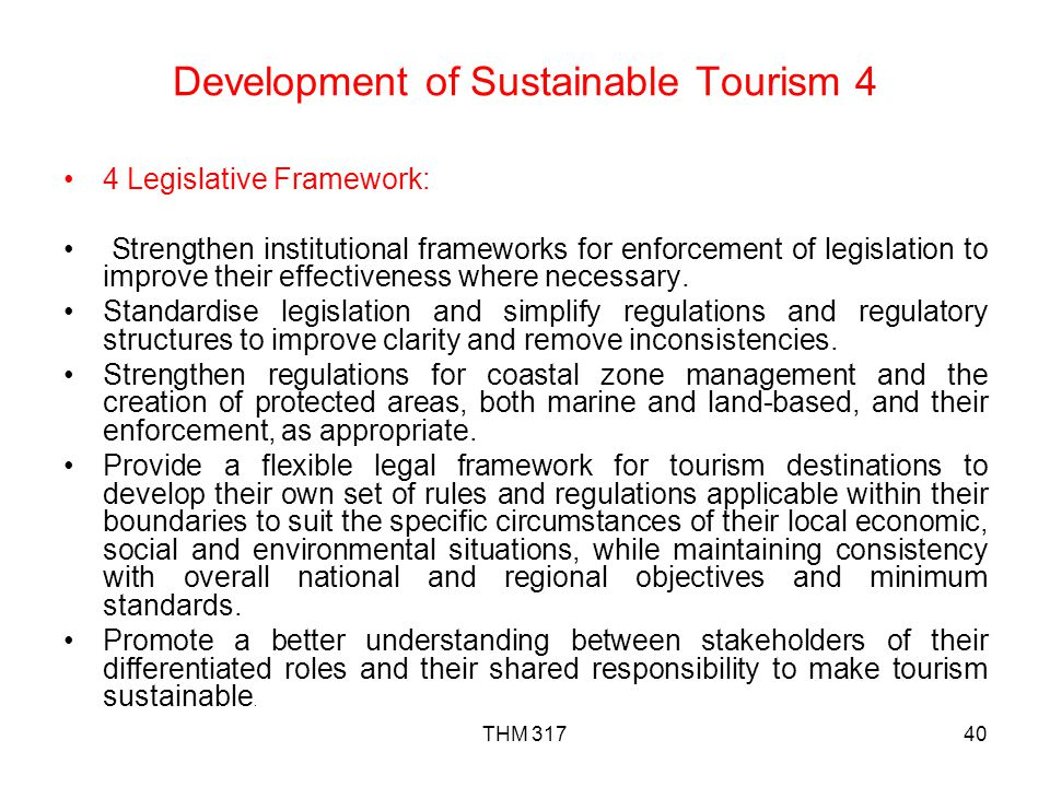 Development of Sustainable Tourism 4