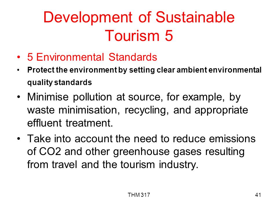 Development of Sustainable Tourism 5