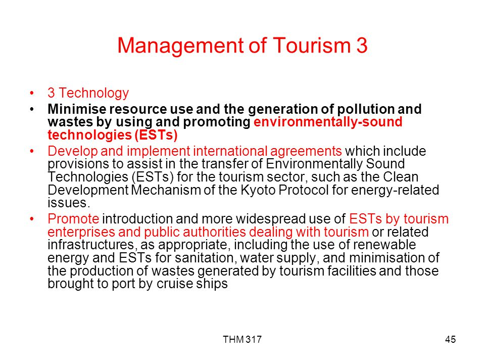 Management of Tourism 3 3 Technology