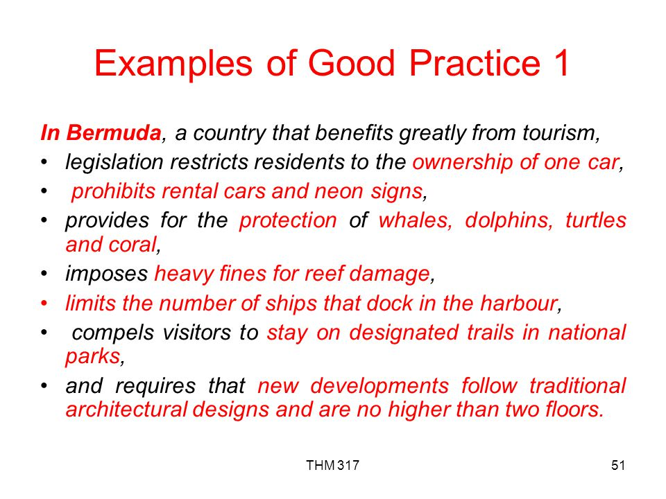 Examples of Good Practice 1