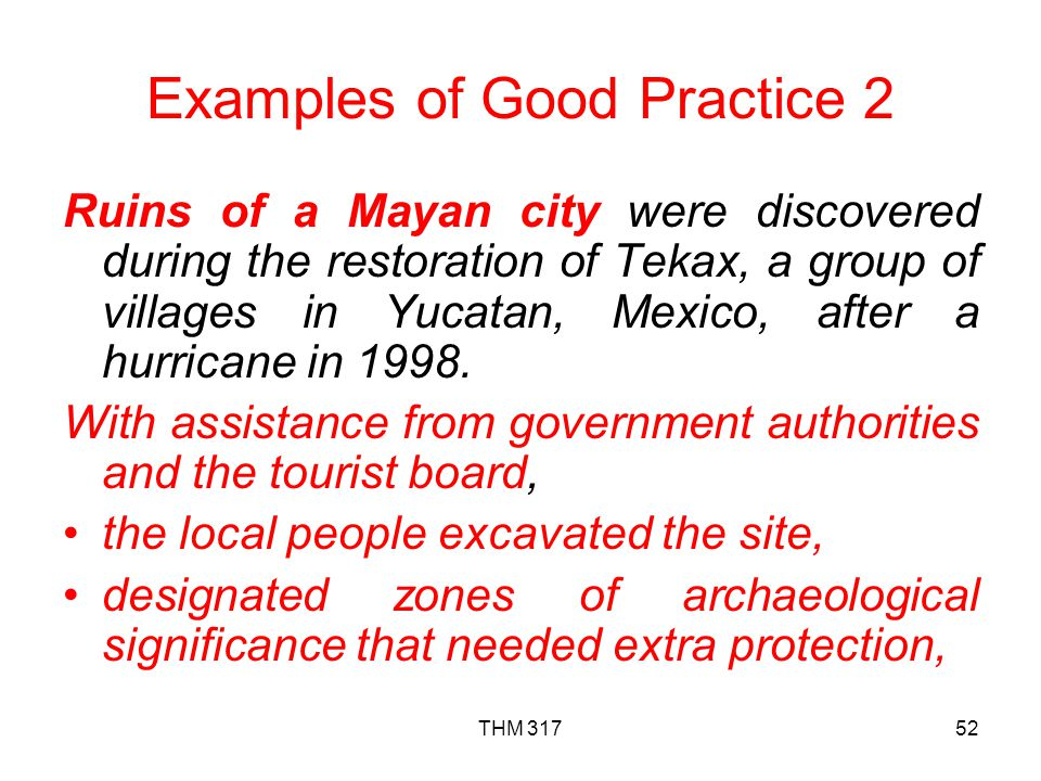 Examples of Good Practice 2