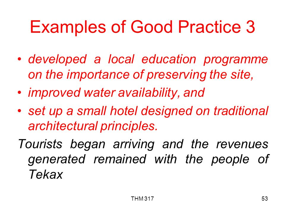 Examples of Good Practice 3