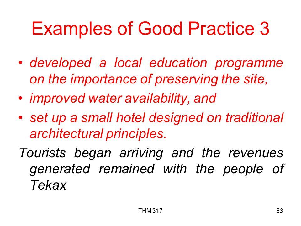 Examples of Good Practice 3