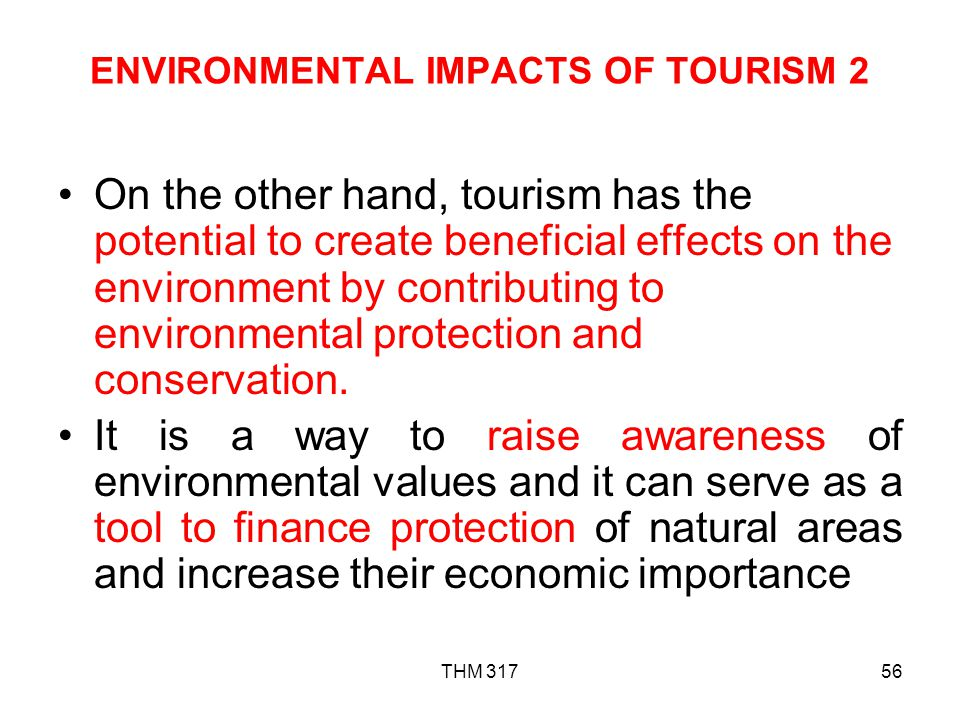 ENVIRONMENTAL IMPACTS OF TOURISM 2