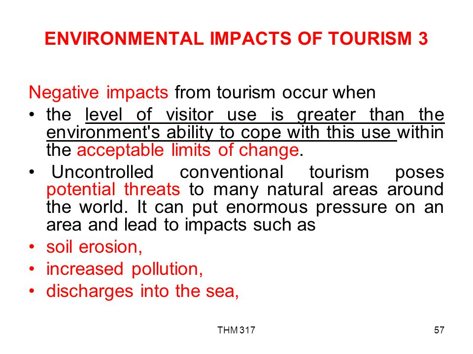 ENVIRONMENTAL IMPACTS OF TOURISM 3