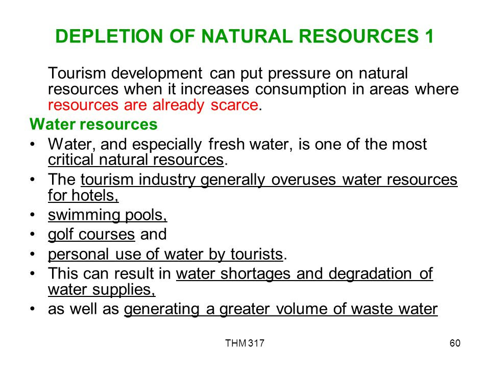 DEPLETION OF NATURAL RESOURCES 1