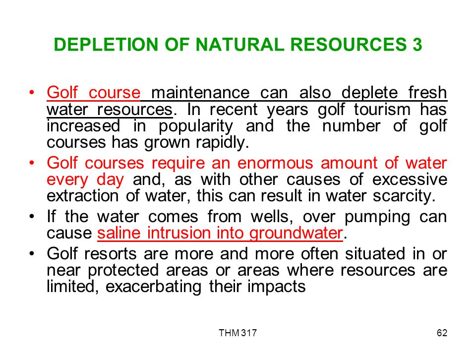 DEPLETION OF NATURAL RESOURCES 3