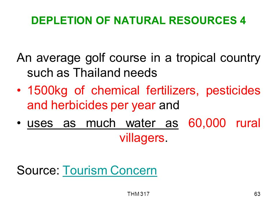 DEPLETION OF NATURAL RESOURCES 4