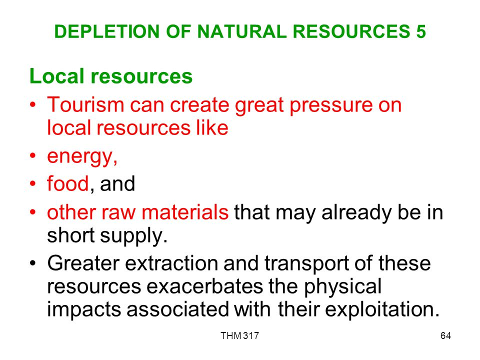 DEPLETION OF NATURAL RESOURCES 5