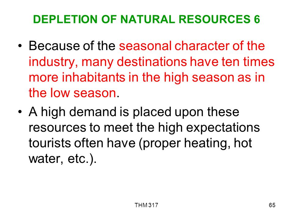 DEPLETION OF NATURAL RESOURCES 6