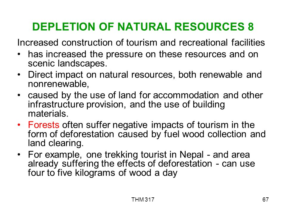 DEPLETION OF NATURAL RESOURCES 8