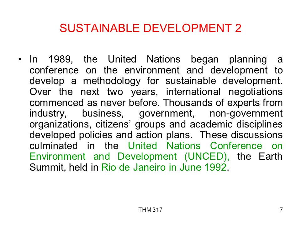 SUSTAINABLE DEVELOPMENT 2