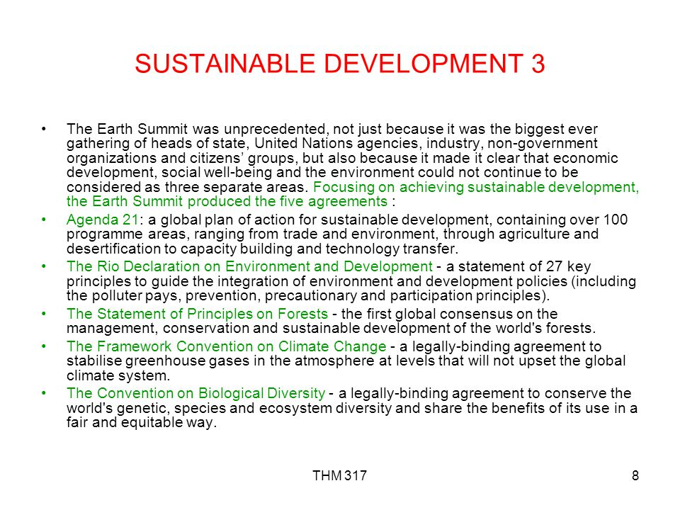 SUSTAINABLE DEVELOPMENT 3